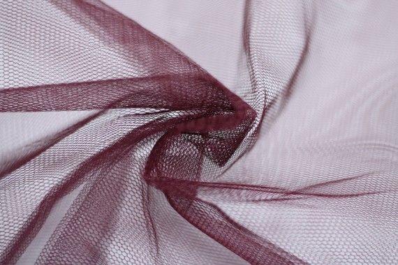 Tissu Tulle Raide Prune Coupon de 3 mètres