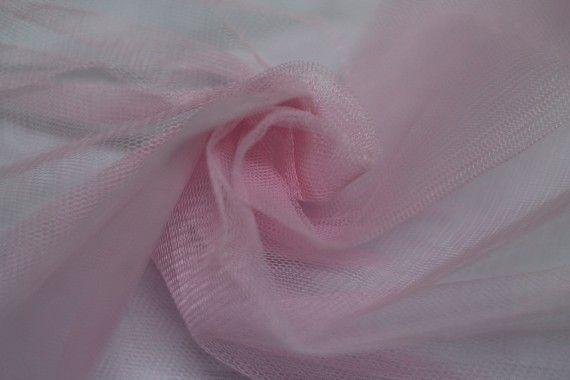 Tissu Tulle Raide Rose Clair Coupon de 3 mètres