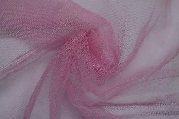 Tissu Tulle Raide Rose Coupon de 3 mètres