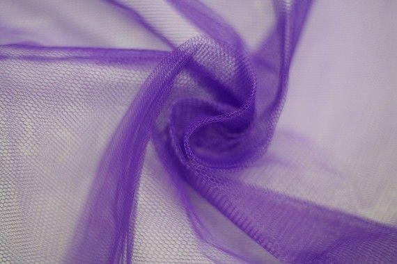 Tissu Tulle Raide Violet Coupon de 3 mètres