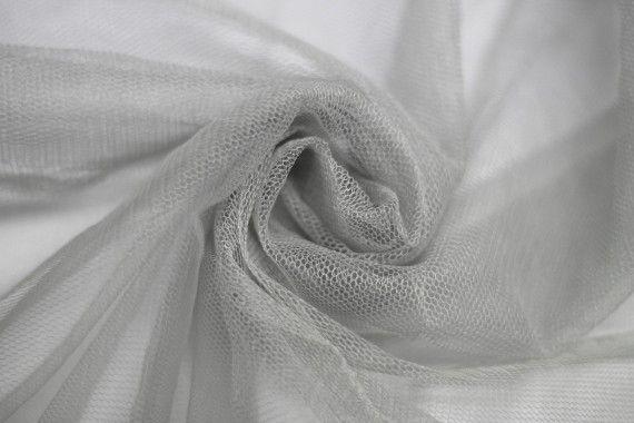 Tissu Tulle Raide Gris Clair Coupon de 3 mètres