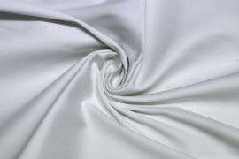 Tissu Satin de Coton Vegas Blanc Coupon de 3 Metres
