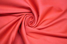 Tissu Satin de Coton Vegas Corail Coupon de 3 Metres