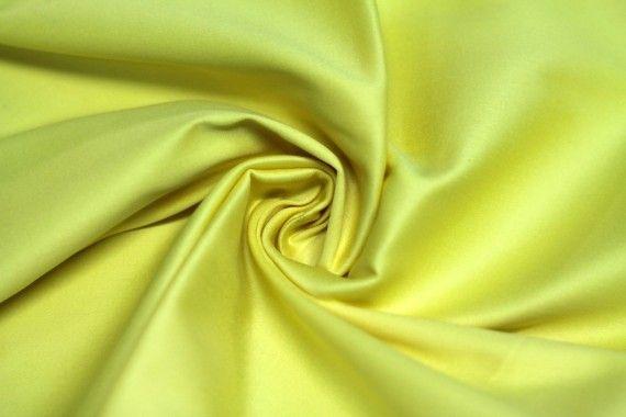 Tissu Coton Uni Vegas Jaune Coupon de 3 Mètres