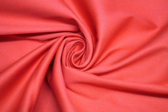 Tissu Coton Uni Vegas Corail Au Mètre