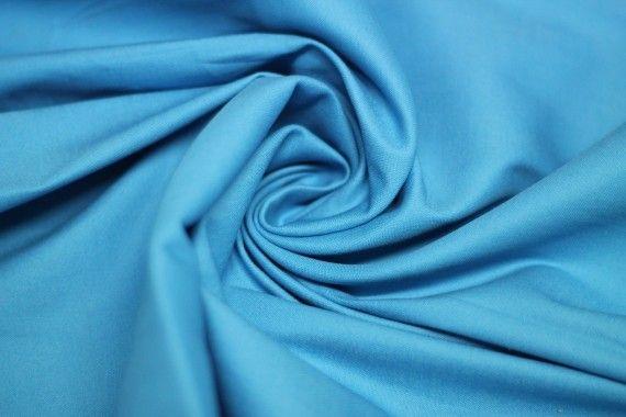 Tissu Coton Uni Vegas Turquoise Au Mètre