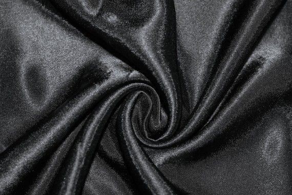 Tissu Doublure Satin Noir Petite Largeur -Au Mètre