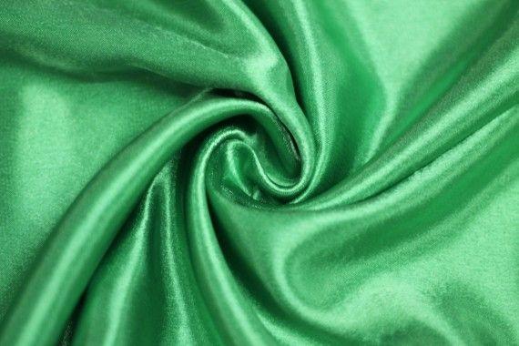 Tissu Doublure Satin Vert Drapeau Petite Largeur -Au Mètre