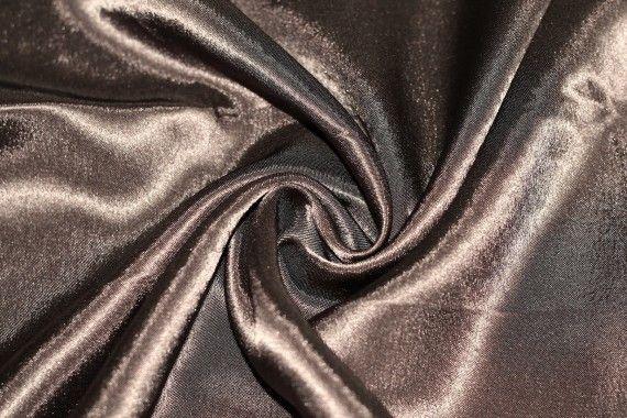 Tissu Doublure Satin Marron Foncé Petite Largeur -Au Mètre