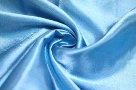 Tissu Doublure Satin Turquoise Grande Largeur -Au Mètre