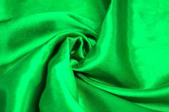 Tissu Doublure Satin Vert Drapeau Grande Largeur -Au Mètre