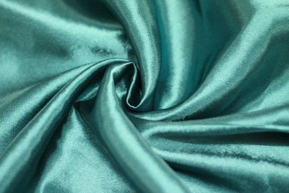 Tissu Doublure Satin Vert Turquoise Grande Largeur -Au Mètre