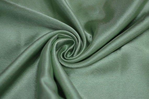 Tissu Doublure Satin Pistache Foncé Grande Largeur -Au Mètre