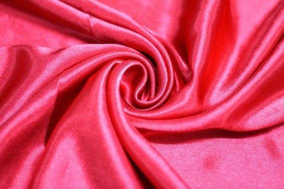Tissu Doublure Satin Rouge Grande Largeur -Au Mètre