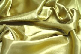 Tissu Doublure Satin Or Grande Largeur -Au Mètre