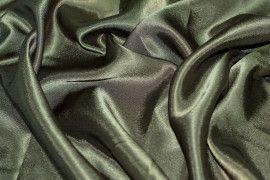 Tissu Doublure Satin Kaki Grande Largeur -Au Mètre