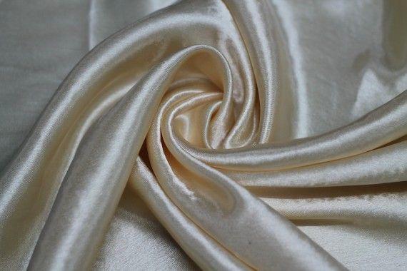 Tissu Doublure Satin Beige Grande Largeur -Au Mètre