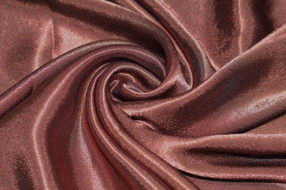 Tissu Doublure Satin Choco Grande Largeur -Au Mètre