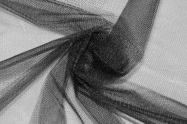 Tissu Tulle Raide Noir -Au Mètre