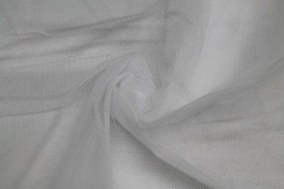 Tissu Tulle Raide Blanc -Au Mètre