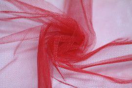 Tissu Tulle Raide Rouge -Au Mètre