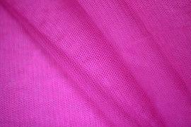Tissu Tulle Raide Fuchsia Fluo -Au Mètre