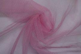 Tissu Tulle Raide Rose -Au Mètre
