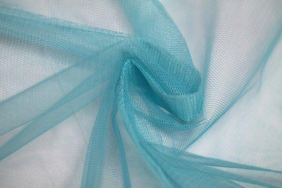 Tissu Tulle Raide Turquoise -Au Mètre