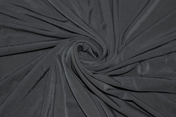 "Tissu ""Lycra"" Venezia Noir Coupon de 3 Mètres"