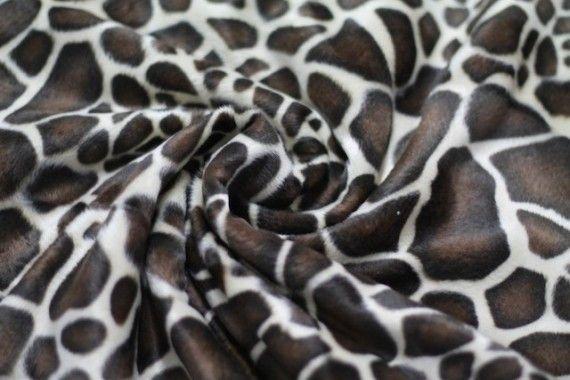 Tissu Fourrure synthétique Girafe -Au Mètre