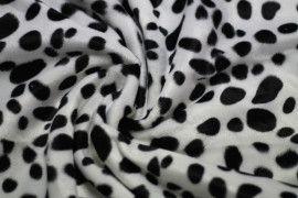 Tissu Fourrure synthétique Dalmatien -Au Mètre