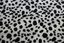 Tissu Fourrure synthétique Dalmatien Coupon de 3 mètres