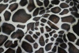 Tissu Fourrure synthétique Girafe Coupon de 3 mètres