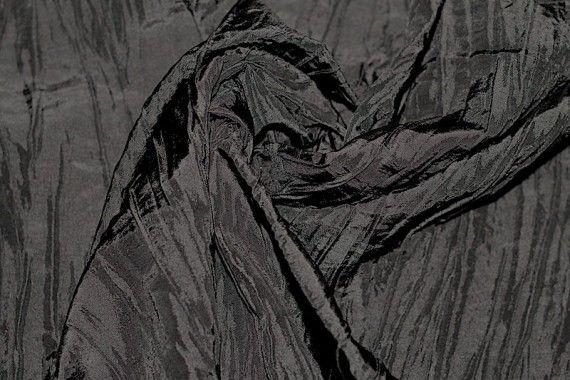 Tissu Taffetas Plissé Noir -Au Mètre