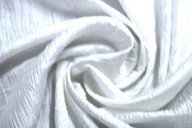 Tissu Taffetas Plissé Blanc -Au Mètre