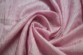 Tissu Taffetas Plisse Rose -Au Metre
