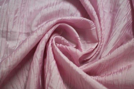 Tissu Taffetas Plissé Rose -Au Mètre
