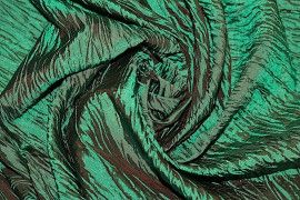 Tissu Taffetas Plissé Vert -Au Mètre