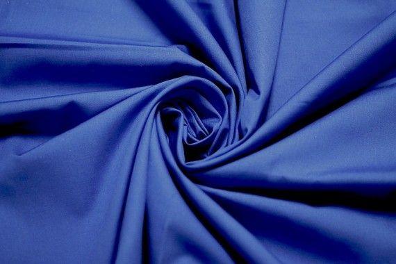 Tissu Popeline Unie 100% Coton Royal Coupon de 3 mètres