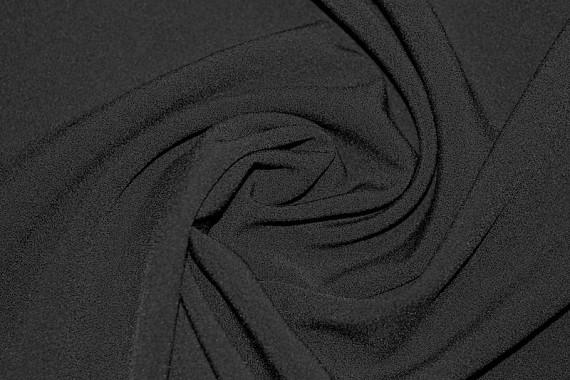 Tissu Double Crêpe Epais Noir -Au Mètre