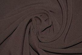 Tissu Double Crêpe Epais Marron -Coupon de 3 mètres
