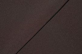 Tissu Double Crêpe Epais Marron -Au Mètre