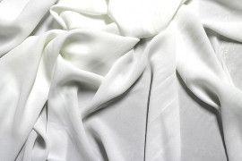 Tissu Crêpe Mousseline Twist Ecru -Au Mètre