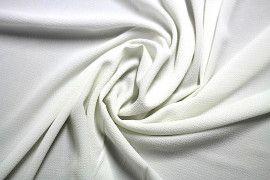 Tissu Crêpe Marocain Ecru -Coupon de 3 mètres