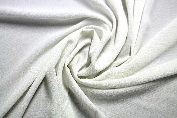 Tissu Crêpe Marocain Ecru -Au Mètre