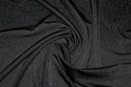 Tissu Lycra Brillant Noir -Au Mètre