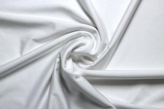 Tissu Lycra Brillant Blanc -Au Mètre