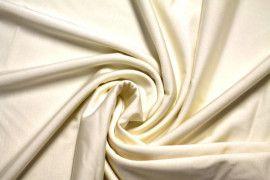 Tissu Lycra Brillant Ecru -Au Mètre