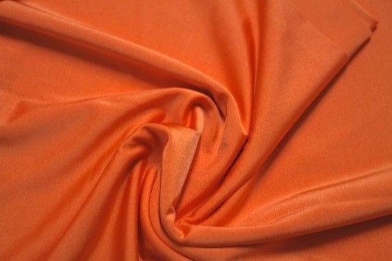 Tissu Lycra Brillant Orange -Au Mètre