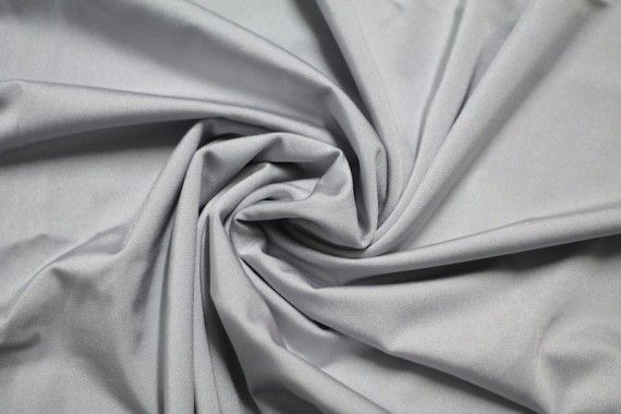Tissu Lycra Brillant Gris Perle -Au Mètre